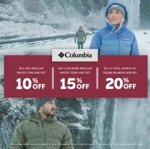 Columbia Sporstwear - Get Up to 20% Off on Regular Priced Items