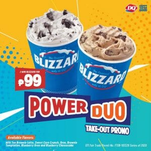 Dairy Queen - Two Mini Blizzard for ₱99