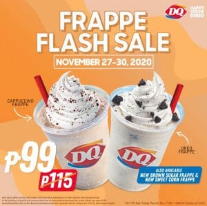 Dairy Queen - Frappe Takeout Deal for ₱99