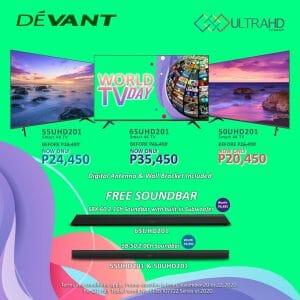 Devant - FREE Soundbar + Up to 24% Discount on Smart 4K TVs