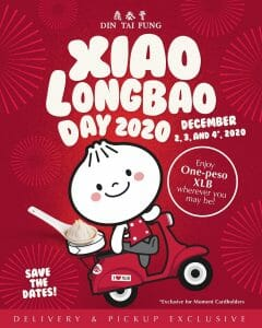 Din Tai Fung - Xiao Longbao Day: Get 2nd Basket of XLB for ₱1 per Piece