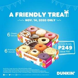 Dunkin Donuts - Barkada Bundle for ₱249 (Save ₱50) on November 14 Only