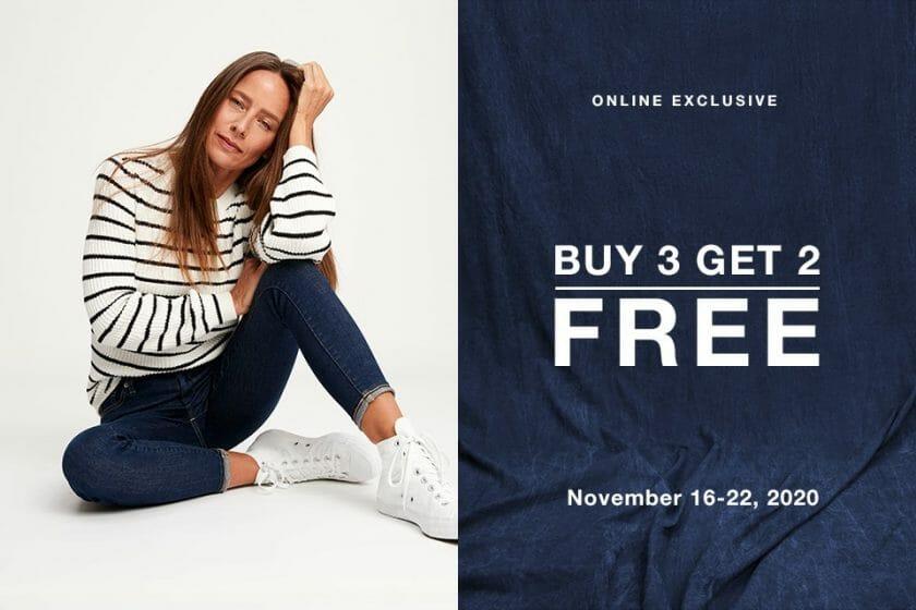 Gap - Buy 3, Get 2 FREE Promo