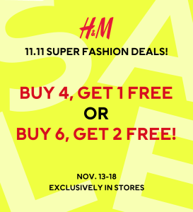 H&M - Extended 11.11 Super Fashion Deals