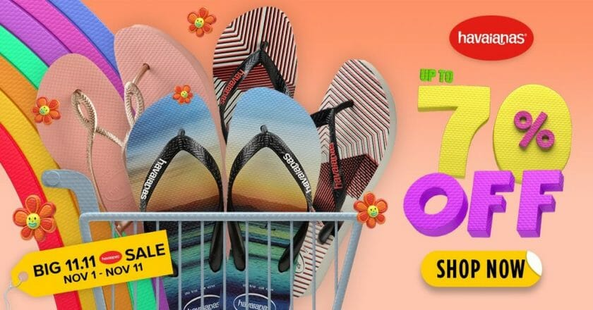 Havaianas - 11.11 Deal: Up to 70% Off