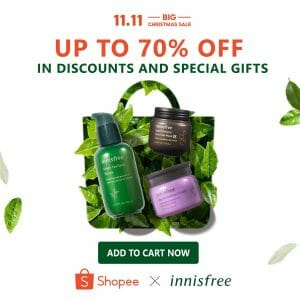 Innisfree - 11.11 Deal: Up to 70% Off in Discounts and Special Gifts