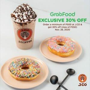 J.CO Donuts & Coffee - Get 30% Off via GrabFood