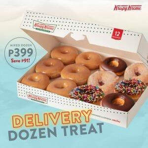 Krispy Kreme - Delivery Dozen Treat for ₱399 (Save ₱91)