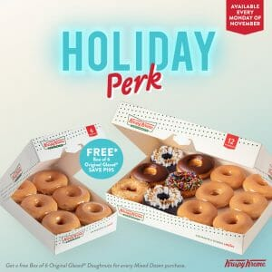 Krispy Kreme - Get a Free Box of 6 Original Glazed® Doughnuts for Every Mixed Dozen Purchase