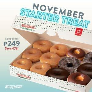 Krispy Kreme - November Starter Treat for ₱249 (Save ₱176)