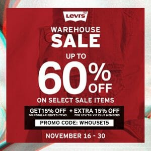 Levi's - Warehouse Sale: Up to 60% Off on Select Sale Items