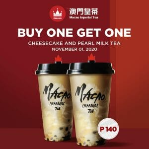Macao Imperial Tea - Buy 1, Get 1 Cheesecake and Pearl Milk Tea (All Branches)