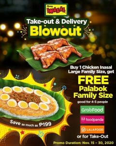 Mang Inasal - Get FREE Family Size Palabok for Every Purchase of Chicken Inasal Large Family Size