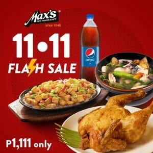 Max's Restaurant - 11.11 Deal: Sarap to the Bones Bundle for ₱1,111 (Save ₱315)