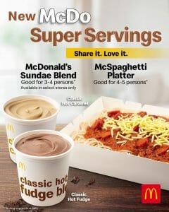 McDonald's - Introducing the New McDo Super Servings