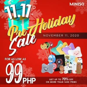 Miniso - 11.11 Deal: Get Your Favorite Items For As Low As ₱99