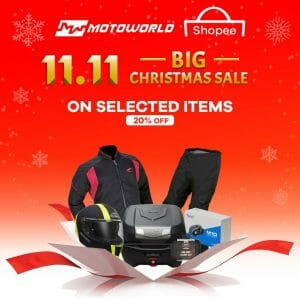 Motoworld - 11.11 Deal: Get 20% Off on Selected Items via Shopee