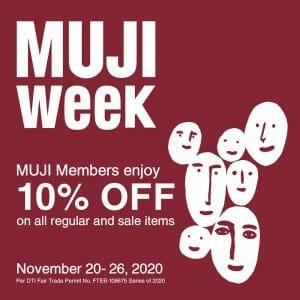 Muji - Members Get 10% Off on All Items