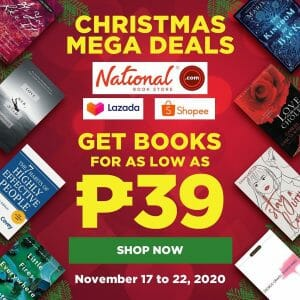 National Book Store - Christmas Mega Deals: Get Books for as Low as ₱39