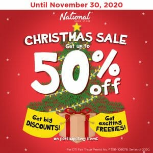 National Book Store - Christmas Sale: Get Up to 50% Off