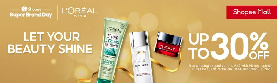 Shopee-Loreal--Upto30off