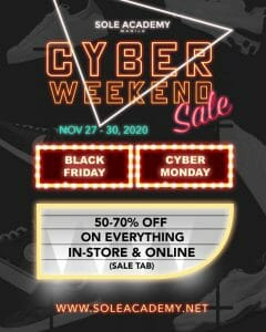 Sole Academy - Cyber Weekend Sale: Get Up to 70% Off