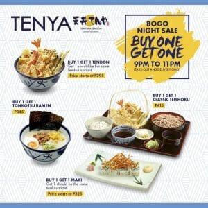 Tenya - Buy 1, Get 1 Night Sale Promo