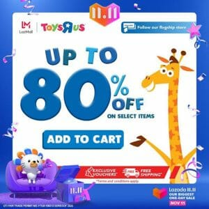 "Toys""R""Us - 11.11 Deal: Up to 80% Off on Select Items"