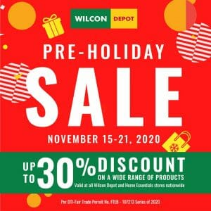 Wilcon Depot - Pre-Holiday Sale: Get Up to 30% Discount