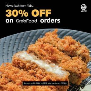 Yabu - Get 30% Off on Orders via GrabFood