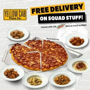 Yellow Cab Pizza - FREE Delivery on Squad Stuff
