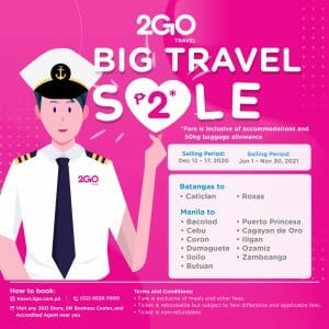 2GO Travel - Big Travel Sale: As Low As ₱2 One-Way Fare