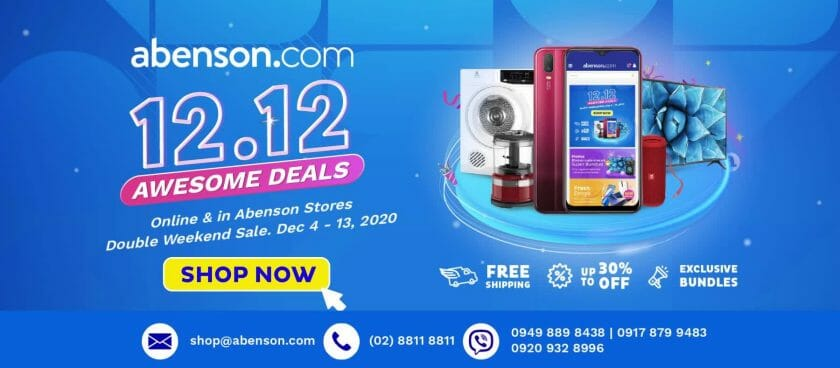 Abenson - 12.12 Deal: Up to 30% Off + FREE Shipping