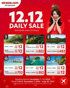 AirAsia - 12.12 Deal: ₱12 Fares for Select Domestic Routes