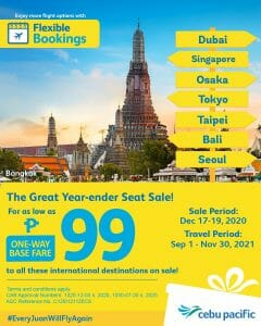 Cebu Pacific Air - As Low As ₱99 to Select International Destinations