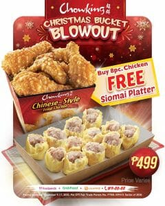 Chowking - Get FREE Siomai Platter for Every Order of 8 Pc. Chicken