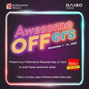 Daiso - Special Promos for Robinsons Rewards Members