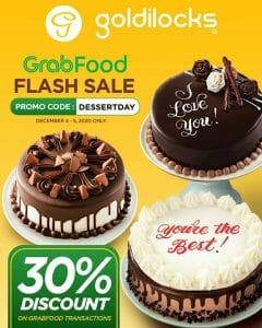 Goldilocks - Flash Sale: Get 30% Off on Orders via GrabFood
