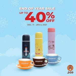 J.CO Coffee & Donuts - Get Up to 40% Off on Selected Merchandise