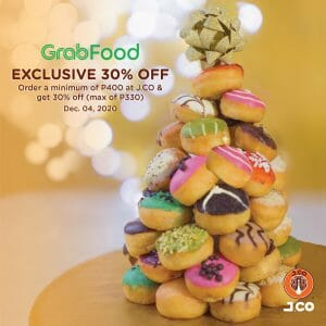 J.CO Donuts & Coffee - Get 30% Off on Orders via GrabFood