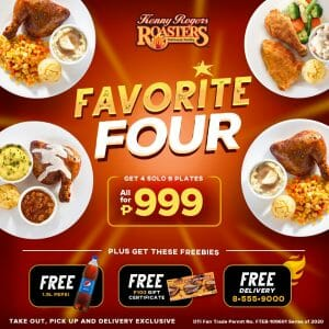 Kenny Rogers Roasters - Favorite Four Promo for ₱999