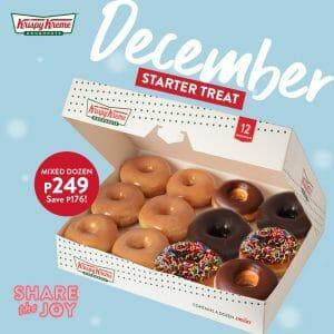 Krispy Kreme - December Starter Treat Promo: Mixed Dozen for Only ₱249