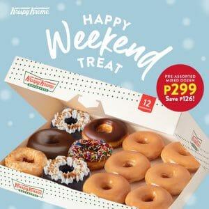 Krispy Kreme - Mixed Dozen Doughnuts for ₱299 (Save ₱126)
