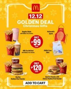 McDonald's - 12.12 Deal: Golden Deals + ₱50 Off via Lazada