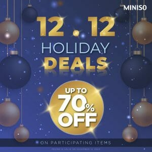 Miniso - 12.12 Deal: Up to 70% Off