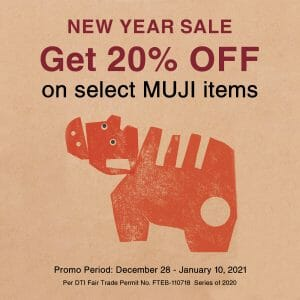 Muji - New Year Sale: Get 20% Off on Select Items