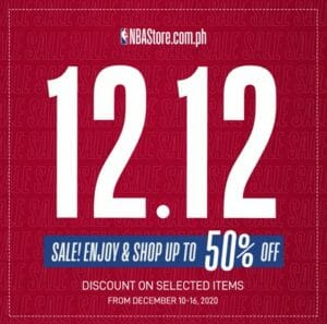 NBA Store Philippines - 12.12 Deal: Up to 50% Off on Selected Items