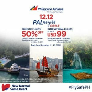 Philippine Airlines - 12.12 Deal: Get 50% Off Domestic and As Low As $99 for International Flights