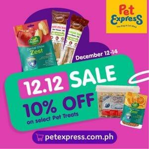 Pet Express - 12.12 Deal: Get 10% Off on Select Pet Treats
