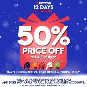 Petron - 12 Days of Merry: Get 50% Off on All Fuels